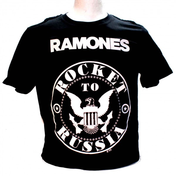 Ramones Rocket to Russia Square Punk Rock Goth Band T-shirt